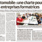 Automobile : une charte pour les entreprises formatrices parrainée Chabas Véhicules