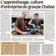 L'apprentissage, culture d'entreprise du groupe Chabas